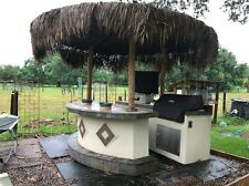 TAHITI Outdoor Kitchen TV pkg & Grill Tiki Hut only 1 1/2 years old