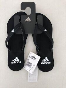 Adidas Unisex Size 6 UK Flip flops, New Black Flip Flop Slides beach pool soft