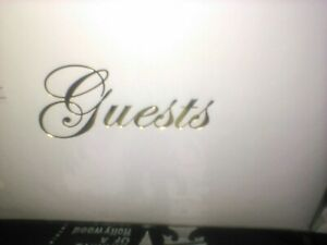 "C.R.Gibson Gold Wedding or Anniversary Guest Book for 600 Names, 8"" x 5.75"""