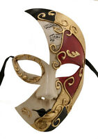 Maschera Di Costume Luna Veneziana Musica Rosso -1849 V56