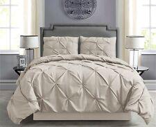 Pintuck Hypoallergenic 8-Piece Bed In A Bag Comforter Set w/ Sheet Set - Beige