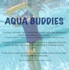 AQUA BUDDIES - Pair Of Water Exercise Cylinders / Floats For Aquatic Exercising