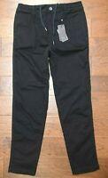 Armani Exchange $130 A|X Men Black Elastic Waist Casual Cotton Trousers Pants 36