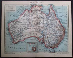 Antique map. AUSTRALIA. 1910