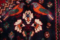 6x9 Vintage Tribal Abadeh Oriental Area Rug Vegetable Dye RED Pictorial