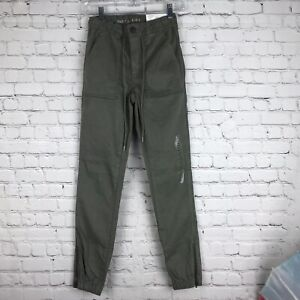 American Eagle Women's Jegging Size 4 Style Jogger Olive Color, Super Stretch