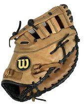 """12.75"""" Wilson PRO500 Adult First Base Mitt A0500PBM  Broken In Natural Leather"""
