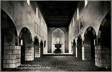 Borna Sachsen Postkarte ~1930 Kunigundenkirche Innenansicht Schiff mit Altar