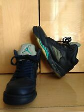 NIKE AIR JORDAN RETRO 5 GS HORNETS NAVY BLUE TURQUOISE WHITE YOUTH SIZE 5.5Y