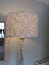 Handmade Drum Lampshade Laura Ashley Tuileries Dove Grey 40cm