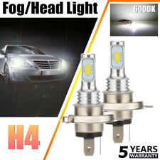 2x H4 LED Headlights Bulbs Conversion Kit High/Low Beam 80W 20000LM 6000K White