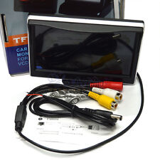 5 Inch TFT-LCD DIY Car Rear View Backup Monitor With Sunshade 2AV input 480x272