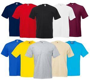 Mens Cotton Original Fruit of the Loom Tee Crew Neck Plain Casual  T-Shirt