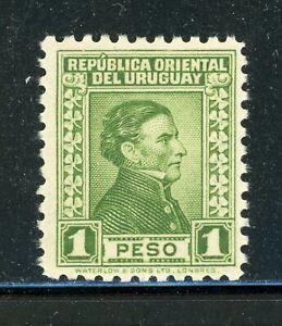 URUGUAY MH Selections: Scott #374 1P Yellow Green Artigas WATERLOW CV$7+