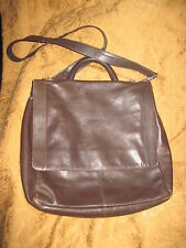 Vintage KENNETH COLE LEATHER MESSENGER CROSS BODY BAG - BROWN **Price Reduction*