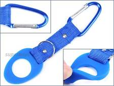 Blue Strap Clip Water Drink Bottle Holder Hook For Waist Belt Case Backpack Pack