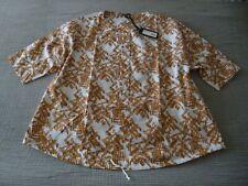 "NWT OSKA ""Vuoma"" Print/Textured/Tie Detail Cotton Top -size 2 14/16UK RRP£209.00"