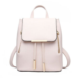 Rucksack Knapsack Women's Backpack Pu Leather Female Backpacks School Travel Bag