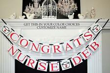Nurse Graduation banner, Nurse Graduation party supplies, RN graduation sign, gr