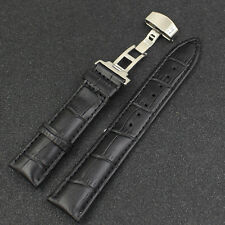 Watch Band Genuine Leather Strap Buckle Belt Bracelet 18 - 22 mm