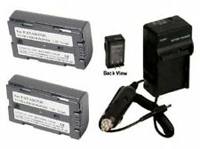 2 Batteries + Charger for Panasonic AG-HPX170 AG-HPX170P AG-HVX200 AG-HVX200A