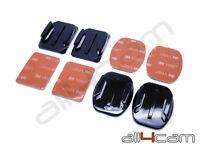 3M Adhesive Mounts Flat Curved Base Helmet Mount for SJCAM SJ4000 SJ5000 Xiaomi