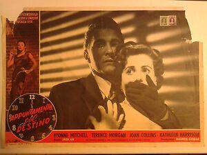 FOTOBUSTA CINEMATOGRAFICA APPUNTAMENTO COL DESTINO JOAN COLLINS JACK LEE 1953