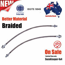Extended Stainless Braided Brake Lines Toyota Landcruiser 80 100 105 Series