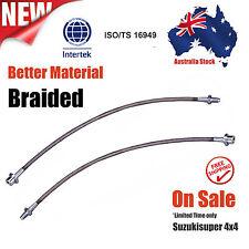 Extended Stainless Braided Brake Lines Toyota Landcruiser 80 100 105 Series