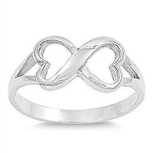 Infinity Heart Knot Ring Sterling Silver
