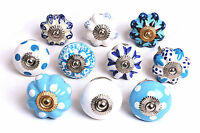 Fabulous Blue & White Ceramic Cupboard Knobs Kitchen Door Drawers Pull (MG-134)