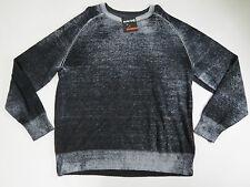 Sweater X-Large Solaris Mens Thin Black & Gray Long Sleeve Crewneck $89