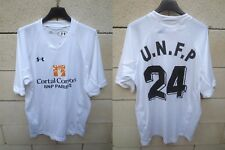 Maillot U.N.F.P porté n°24 Under Armour football match worn shirt M