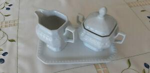 Zuckerdose Milchkännchen und Tablett Andrea Weiß von Seltmann Weiden