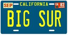 BIG SUR San Francisco 1982 California Aluminum License Plate