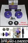 POWERFLEX Front Strut Top Mounts -10mm +FREE BEARINGS for VW GOLF MK4 1J 1997-06