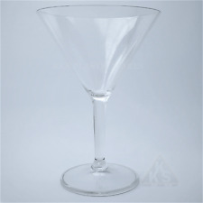 6 New Polycarbonate Plastic Martini Cocktail Glasses 300ml High Quality Reusable