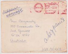 (K73-21) 1979 Brazil Franked envelope to QLD Australia (U)