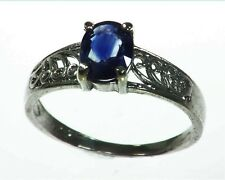 Blue Sapphire Sterling Silver Lady,s Ring RSS1041