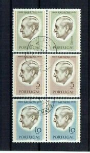 Portugal 1971 USED Pairs complete set #1106-8 CTO Presidente Salazar