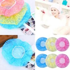 6X Cute Women Lady Waterproof Elastic Plastic Shower Bathing Salon Hair Cap Hat