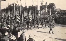 CPA GUERRE 1914 FETES DE LA VICTOIRE LES DRAPEAUX AMERICAINS