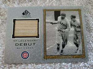 SP Legendary DEBUT bat card Billy Herman