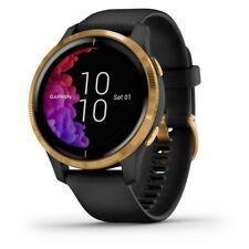 GPS Garmin venu AMOLED SmartWatch-Negro con el hardware de oro (010-02173-31)