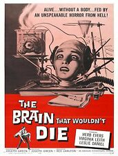 THE BRAIN THAT WOULDN'T DIE (DVD 1962 HORROR)