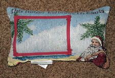 This House Believes in Santa Tropical Palm Tapestry Word Pillow w/Photo Insert