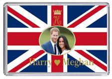 Prince Harry and Meghan Markle Royal Wedding Fridge magnet Union Jack