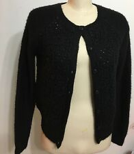 TopShop Black Open/Botton Down Longsleeve Cardigan Size 8