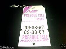 VINTAGE NORTHEAST AIRLINES BAG TAGS - PQI - PRESQUE ISLE