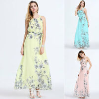 Women's Boho Long Maxi Dress Ladies  Party Evening Summer Beach Sundress